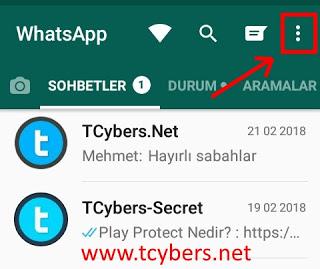 WhatsApp hikayesine gizlice bakmak