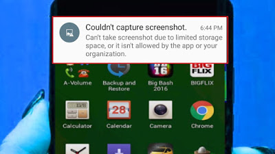 Ekran görüntüsü alınamadı hatası