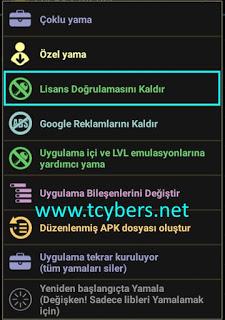 android-lisans-kaldırma