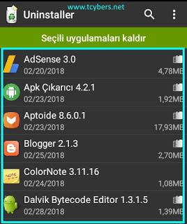 android-toplu-uygulama-kaldirma