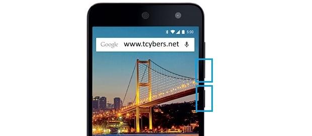 General mobile 4g ekran görüntüsü alma