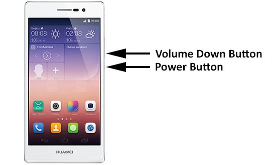 Huawei cihazlarda ekran görüntüsü alma