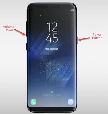Samsung galaxy s8 ekran görüntüsü alma