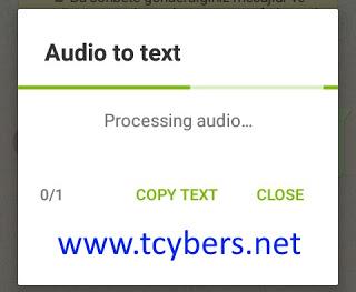 Whatsapp sesli mesajı yazıya çevirme