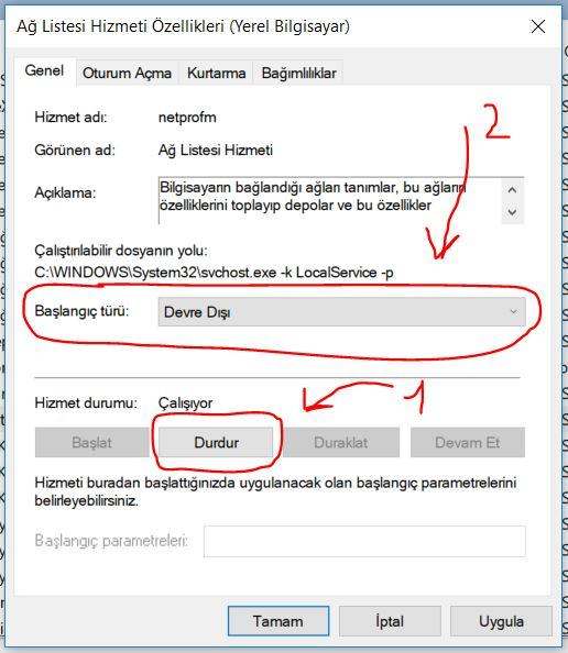 windows-10-gereksiz-hizmetleri-kapatmak-2